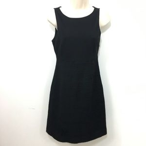 Theory tweed blend sheath dress black 4